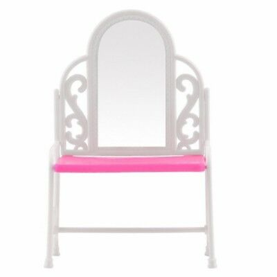 Dressing Table & Chair Accessories Set For Barbies Dolls Bedroom Furniture W7G1