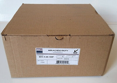 New Sola Sdn 5-48-100P Power Supply Output 5A 48Vdc Input 115/230Vac