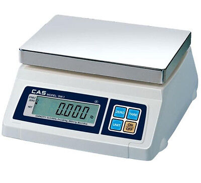 CAS SW-50 Portion Control Scale 50LB X 0.02 LB,NTEP,Legal For Trade,New