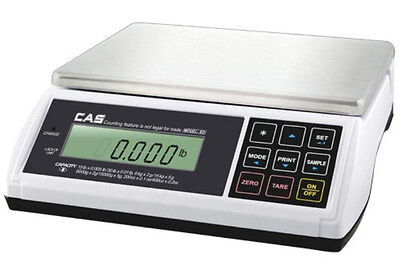 CAS ED Counting Checkweigher Scale 60X0.02 LB,Dual Range,NTEP,Legal Trade,New