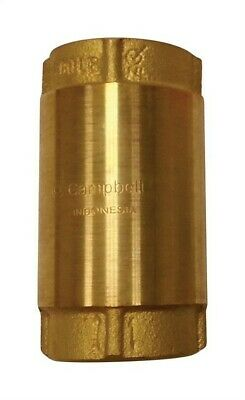 "Campbell Check Valve 200 Psi 1 "" Brass 200 Psi"