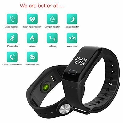 OROLOGIO SMARTWATCH CARDIOFREQUENZIMETRO FITNESS TRACKER SPORT BAND ANDROID iOS