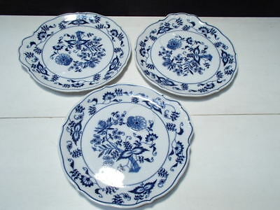 3 of the Blue Danube Snack Plates ~~ Ex Cond