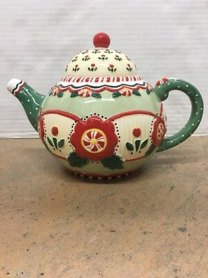 Mary Engelbreit Christmas 2001 China Teapot SIgned