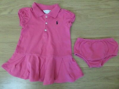 Baby Girl's Ralph Lauren Dress Outfit. Age 9 Months. Excellent Condition