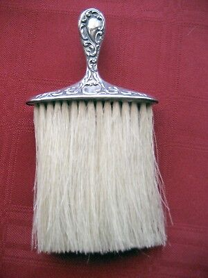 Dainty Signed Victorian Repousse Sterling Silver Vanity Hat Clothes Brush
