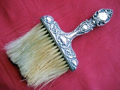 Antique. Signed Wm Link Victorian Repousse Sterling Silver Hat Clothes Brush