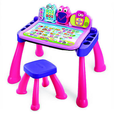 Kids Activity Desk Learning Table Girls Pink
