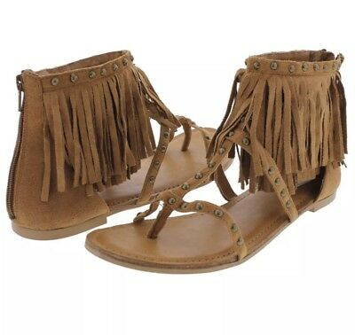 288a87d0c NOT RATED WOMEN S XENIA BOHEMIAN STYLE STUDDED Fringe Sandals 7 ...