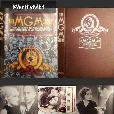Vtg Mgm Movies 1924-1974 Illustrated Large Coffee Table Picture Decor Book