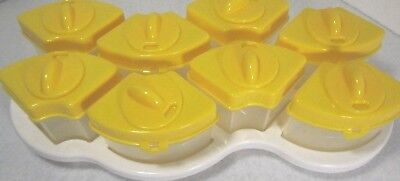 Baby Brezza OCTO Food Storage System 8 containers in Yellow -  BPA free