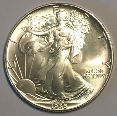 1986 1 oz Silver American Eagle (Brilliant Uncirculated)