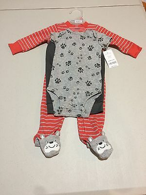 31ccb902a NWT CARTER'S BABY boy sleeper bodysuit pants set - $13.95 | PicClick