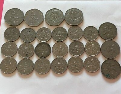 Assorted Job Lot Coins 5p 10p 50p