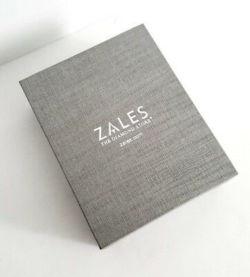 Zales The Diamond Silver Ring Necklace Earrings Jewelry Box New