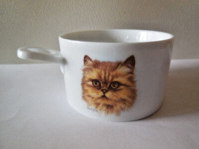 Bowl / Mug - Persian Cat Yellow - Derick Bown - Cup with Handle