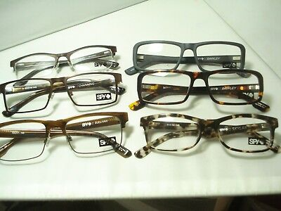 Lot of 6 Pair New SPY OPTICS Eyeglasses ASSORTED METAL & PLASTIC CLEARANCE