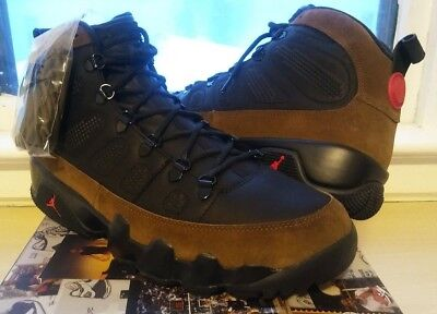 a99480d2fb2a0 NIKE AIR JORDAN 9 IX Retro Boot Black Gum NRG Size 12.5. AR4491-025 ...