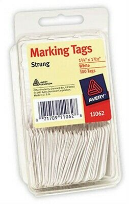 Avery 11062 White Marking Tags 100Count - PK 6