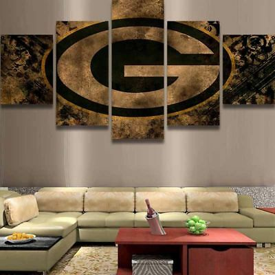 5pcs  Green Bay Packers NFL Canvas HD Prints Painting Wall Art Home Decor