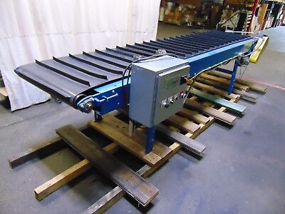 13' Powered Cleated Belt Conveyor 115v 1 Phase Cleats