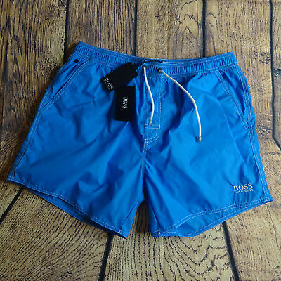 1dca78ff57262 BOSS HUGO BOSS Mens Medium Lobster Swim Shorts Turquoise NEW $69 ...