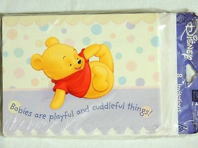 WINNIE THE POOH /& PALS  8-INVITATIONS W //ENVELOPES  PARTY SUPPLIES