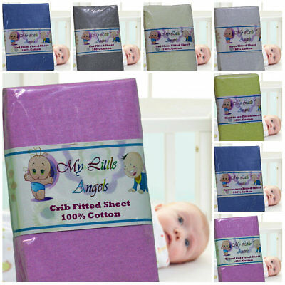 Jersey Fitted Sheet 100% Cotton Fits Baby Crib,Cot,Junior Bed ,Moses,Next2 Me !!