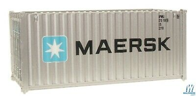 Maersk 20' Corrugated Container HO - Walthers SceneMaster #949-8060 vmf121