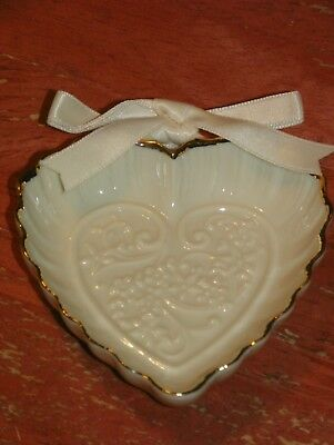 Lenox 'Wedding Promises' Collection Set of 4 Gold Heart Favors - NEW IN BOX
