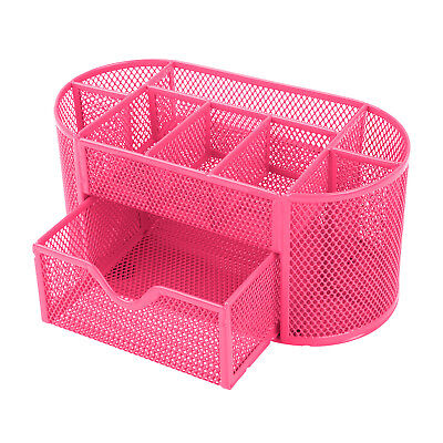 Superb Pink Desk Organizer Mesh Metal Holder Desktop Office Pen Pencil Storage Tray Us Download Free Architecture Designs Estepponolmadebymaigaardcom