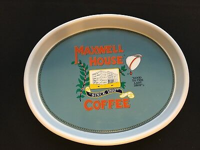 "MAXWELL HOUSE COFFEE ~  Oval Tin/Metal Serving Tray 15"" x 12"""