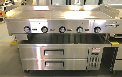 "NEW 60"" Griddle On Chef Base Refrigerator Flat Grill Thermostat Temperature"