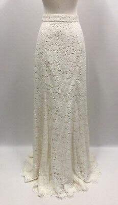 32f0326d31f NEW J.CREW WEDDING LACE GOWN SKIRT SIZE 6 IVORY BRIDAL formal long ...