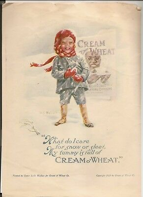 1922 CREAM OF WHEAT Ad - Les Wallace - Literary Digest