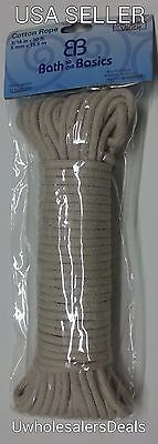 3 Rolls of 50 feet (150 ft) Cotton Clothesline Rope String Clothes Line 3/16""
