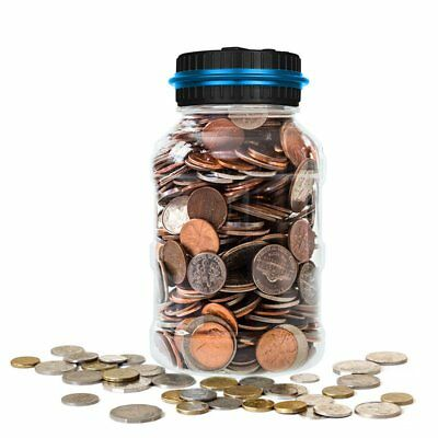 Digital Dollar Coin Counter Jar Electronic Piggy Bank Counting Saving Money BOX