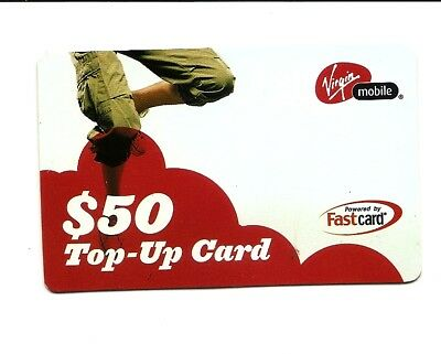 USA Phonecard - Virgin Mobile Top-up Card $50 2005 - USED / NO AIRTIME