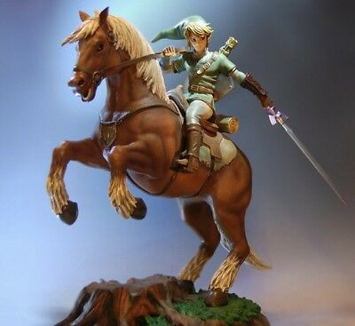 "Link On Epona 17"" Statue Legend Of Zelda Twilight Princess First 4 Figures F4F"