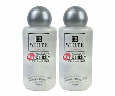 H&B 2 pcs Set ER WHITENING LOTION 120ml Placenta Extract Combination DAISO SB