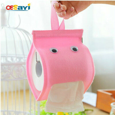 Roll Paper Plush Cloth Tissue Case Toilet Hanging Tissue Canister Box Holder