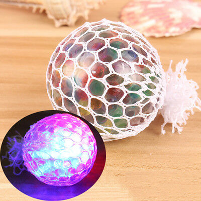 Glowing Anti Stress Reliever Mesh Grape Ball Squeeze Stress Relief Toys Flowery