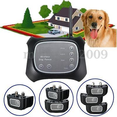 Wireless Pet Dog Fence Containment System Waterproof Transmitter Collar LN