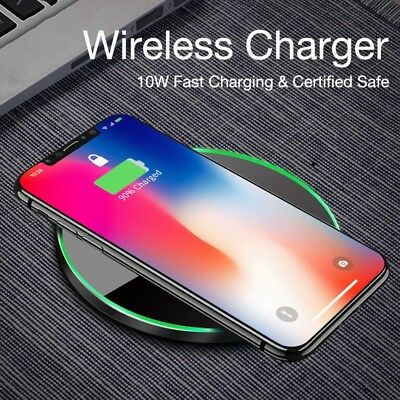 For Samsung iPhone 8 XWireless Qi Cellphone Charger Cordless Charging Pad*10W/US