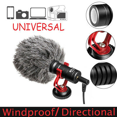 Windproof Video Mic Go On Camera Condenser Microphone DSLR Video iPhone Android