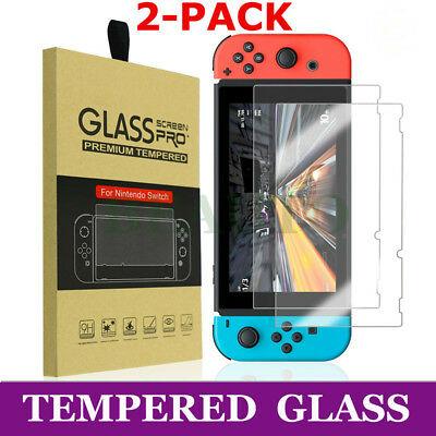 2X Premium Tempered Glass Screen Protector Film Guard Shield For Nintendo Switch
