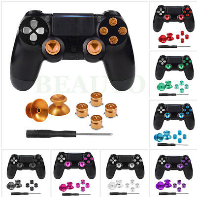 Metal Analog Thumbstick Thumb Stick Joystick Bullet Button for PS4 Playstation 4