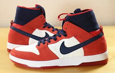 dcd4be42ff05 Nike SB Zoom Dunk High Elite University Red College Navy White 917567-641  9.5