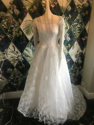 Vintage 50s Lace Wedding Dress
