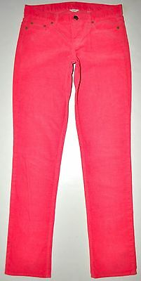 "J.Crew Salmon City Fit Corduroy Straight Leg Jeans Pants 27R (W30"" L 31.5"") EUC"